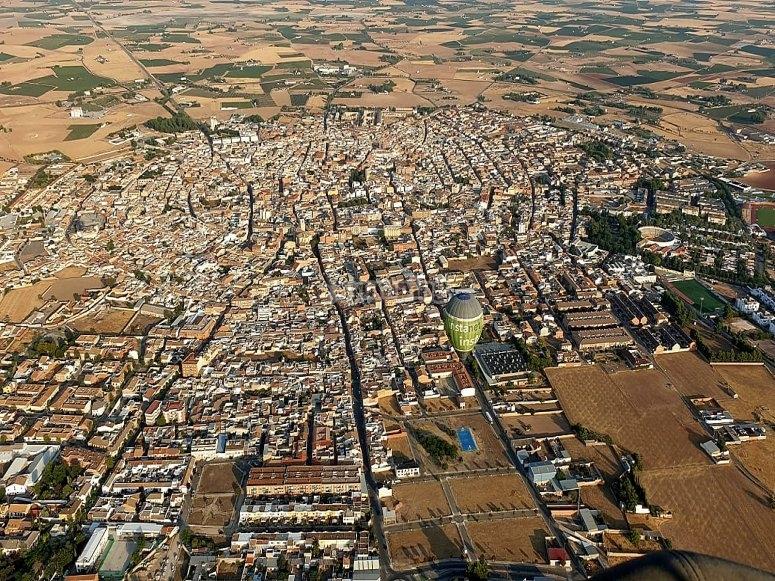 Vista desde globo de Ciudad Real