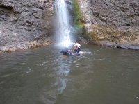 Un baño tras el descenso