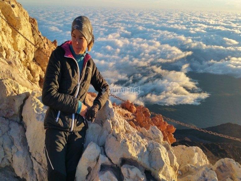 Por encima de las nubes en el Teide