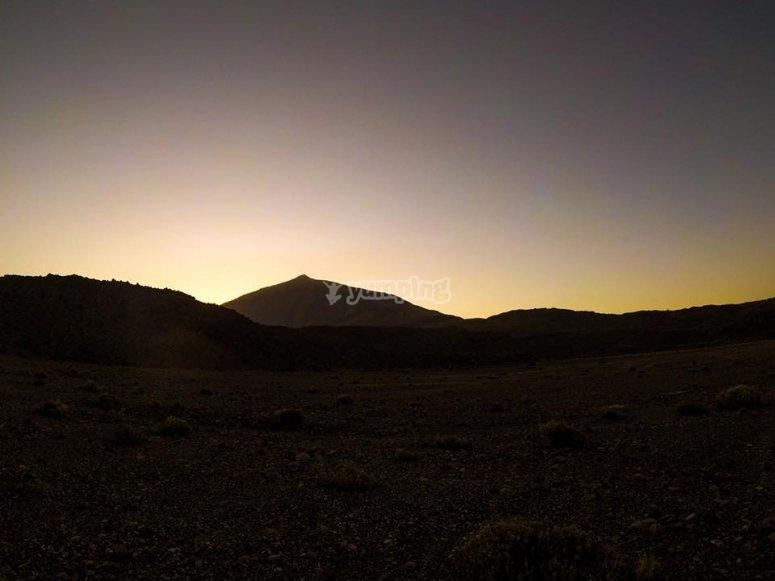 Las vistas nocturnas de Tenerife