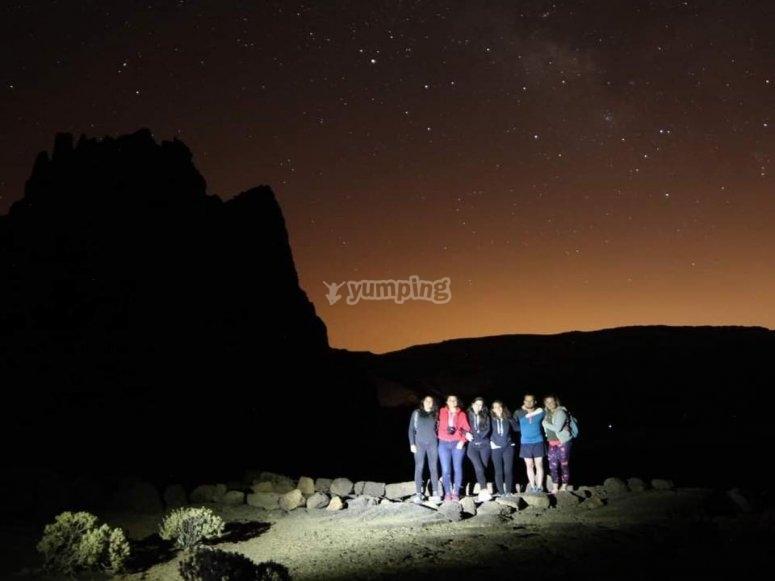 Senderismo bajo las estrellas en El Teide