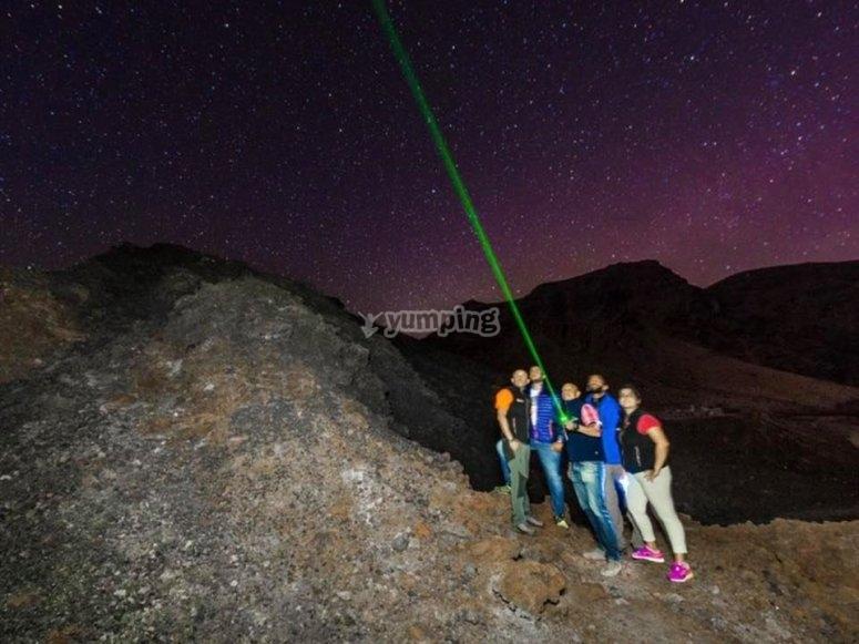 Aprendiendo astronomía desde El Teide