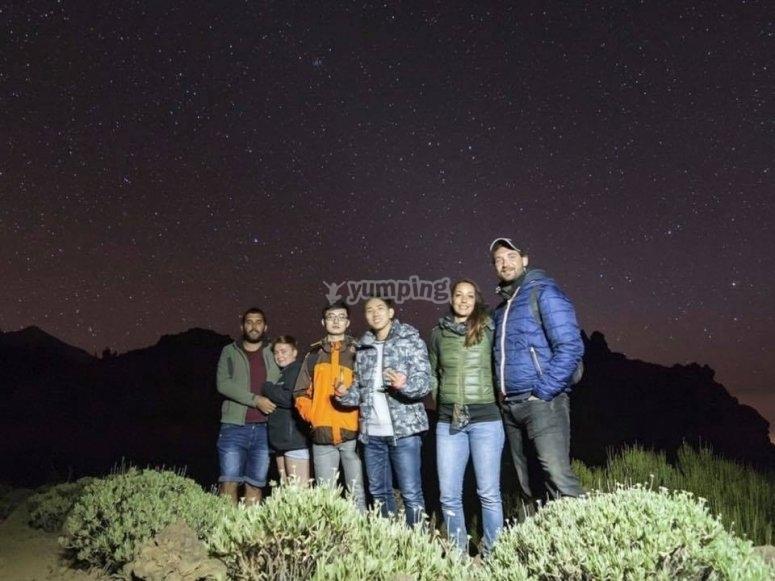 Senderismo astronómico en El Teide