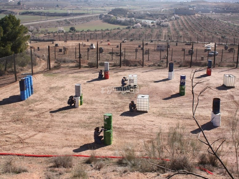 Paintball session in Juneda facilities