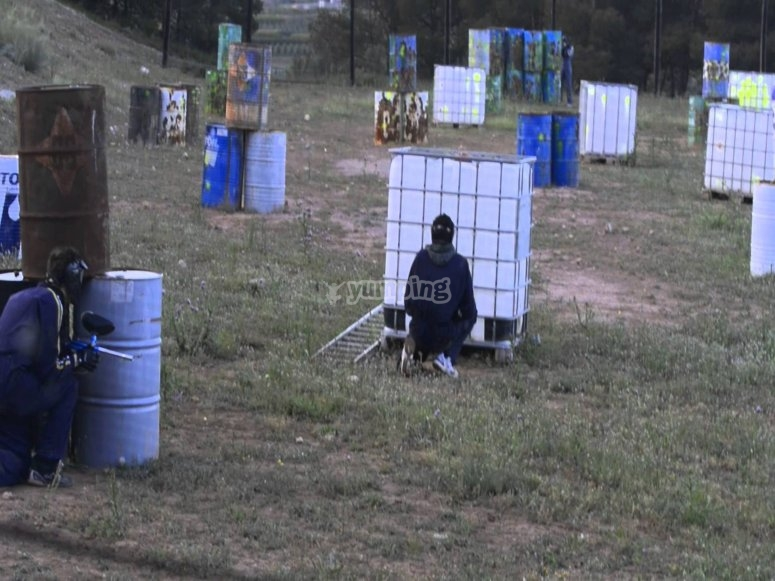 Attack and defense in paintball in the area of Lleida