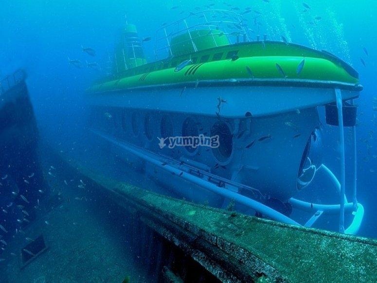 Inmersión en submarino Puerto Calero