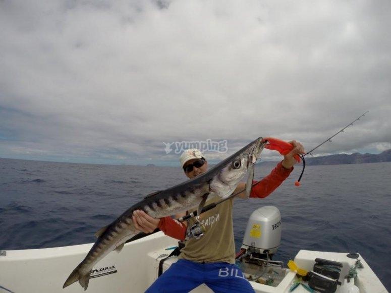 Captura de gran pez