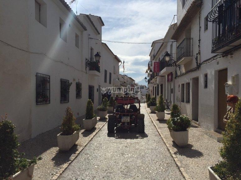 Por las calles de Benidorm en buggy