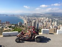 Views of Benidorm from the buggy