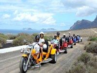 穿越兰萨罗特岛火山的摩托车三轮车游览