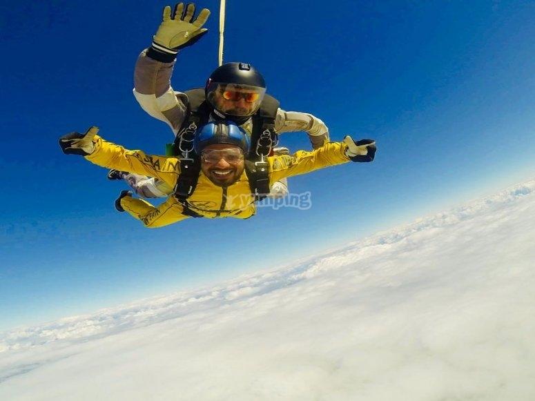 Promoción salto en paracaídas día de Reyes