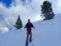 Con las raquetas de nieve en Pic de la Mina