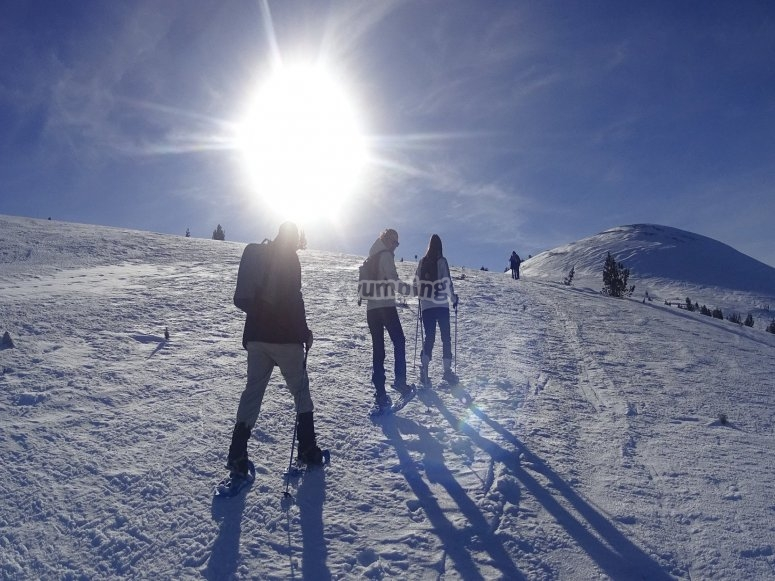 Snowshoeing托萨·佩拉达