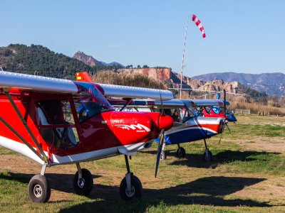 Initiation flight ultralight plane La Llosa 15 min