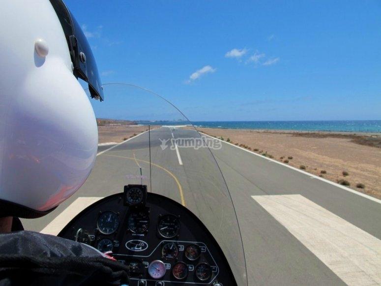 Clase de autogiro en Castellón