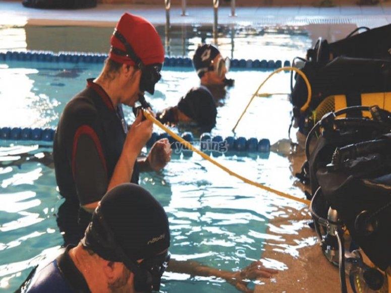 瓦尔德莫罗的潜水洗礼