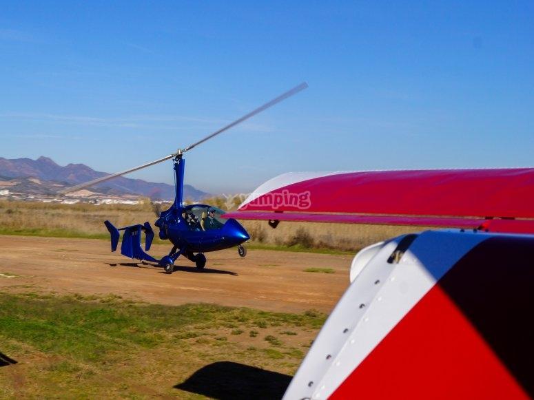 Vola in autogyro nell'area di Castellón