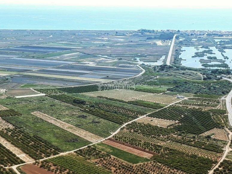 Paesaggio della campagna valenciana ad autogiro