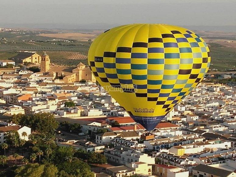 Sobrevolando Córdoba en globo