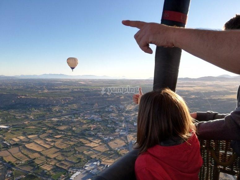 Avistando globos desde el globo en Córdoba