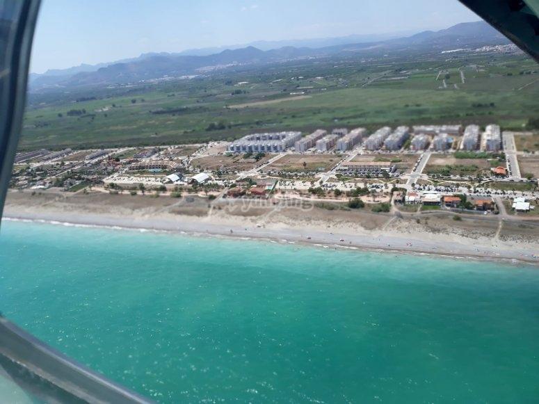 Panorámica playa Castellón autogiro