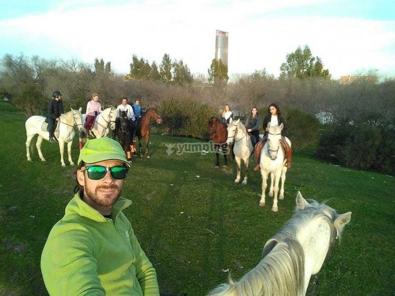 Horse riding through the Guadalquivir