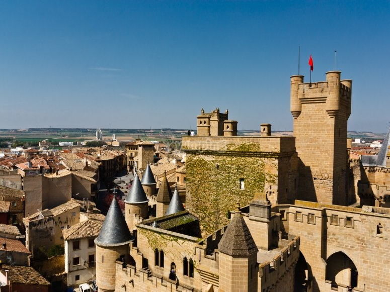 Flying over the Olite castle