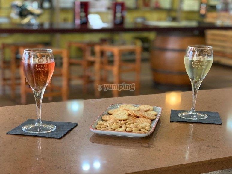 在圣萨杜尔尼德诺亚品尝两个格兰储备酒