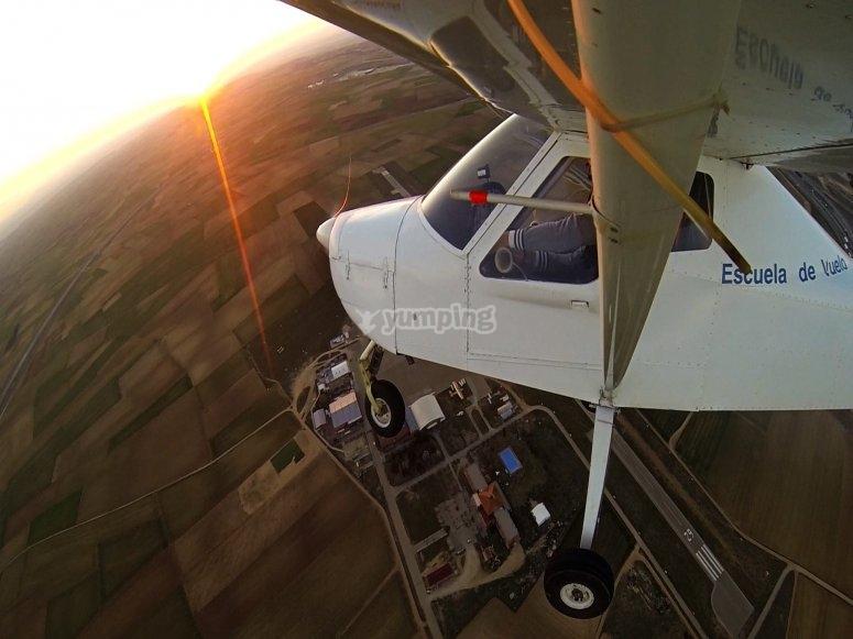在Aranjuez飞机上进行首次飞行