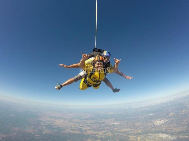 Discesa con il paracadute