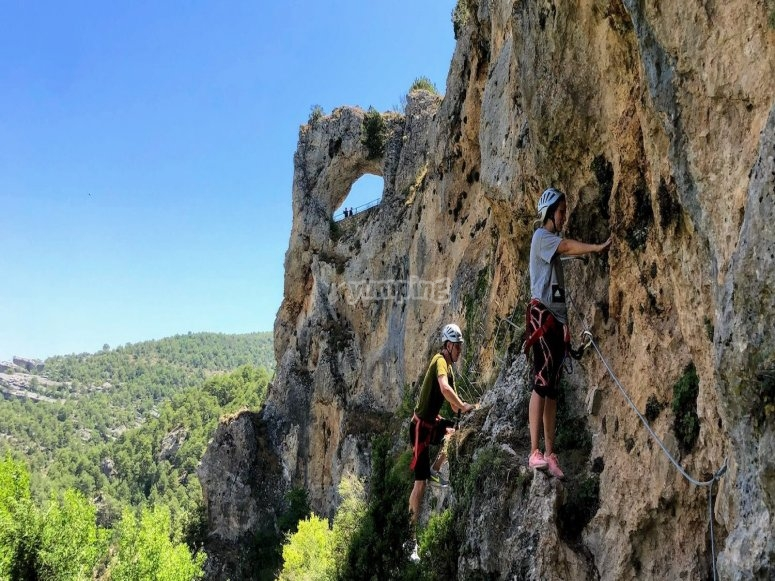 Beginner ferrata in Villabal de la sierra
