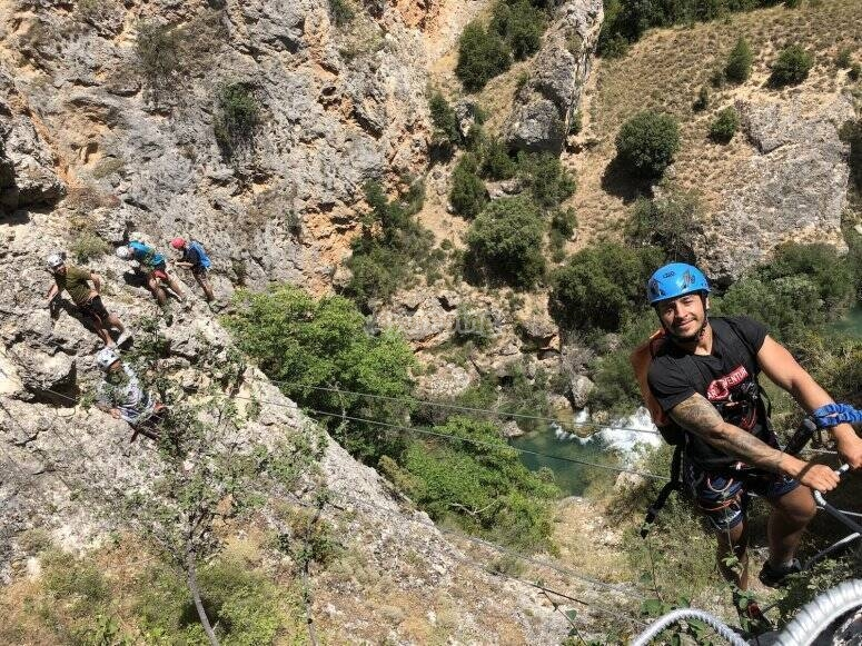 Practice ferrata in Villabal de la sierra