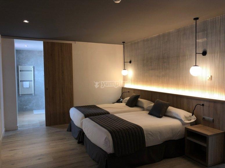 Habitaciones del hotel donde te hospedarás