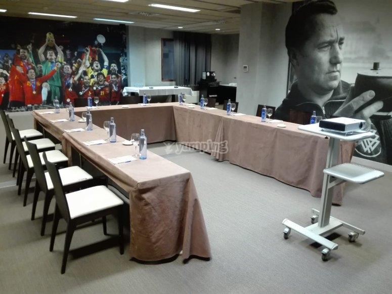 La stanza della squadra nazionale spagnola