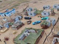 Vista aérea del campo de paintball