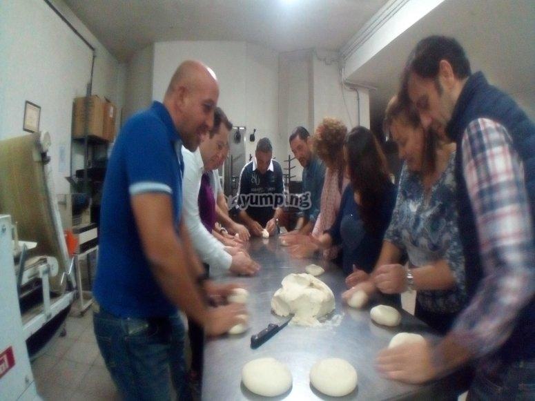 Bread workshop in Montiel