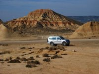 Driving an SUV through the Bardenas Reales Desert
