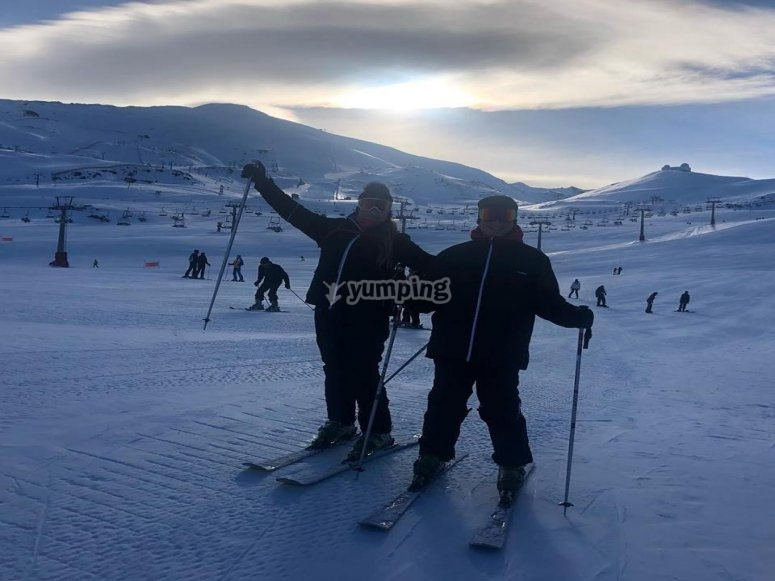 Instrucción de esquí en Sierra Nevada