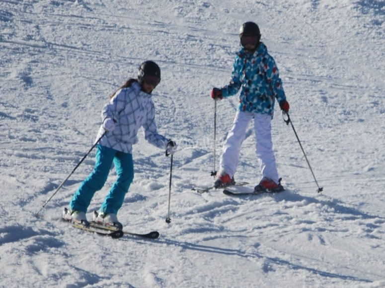 Skiing for the first time in Sierra Nevada