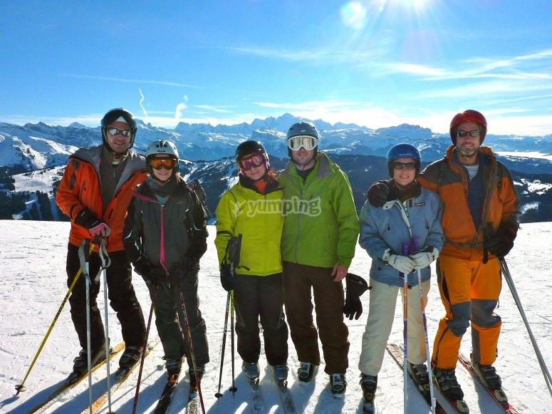 Clase esquí durante 6 horas en Sierra Nevada