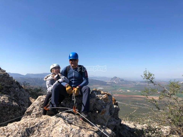 Alcanzando la cima en la Sierra de Gracia