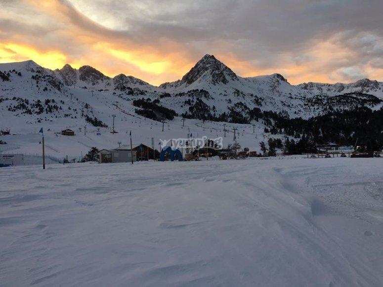 Pistas nevadas en Los Pirineos