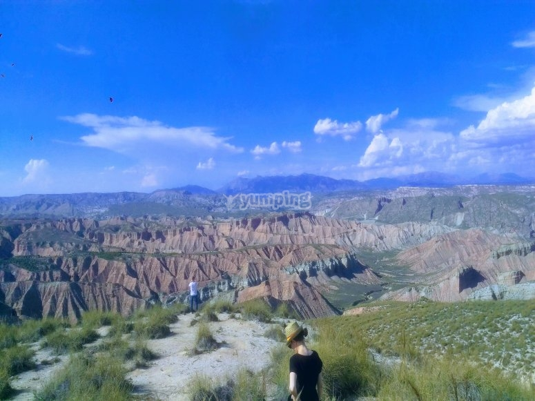 Panorámica del desierto de Gorafe