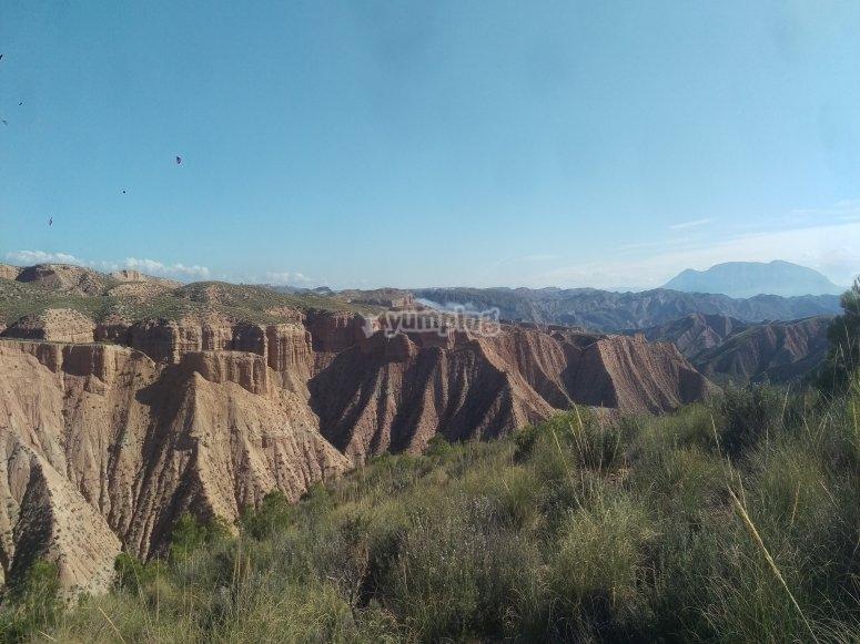Ruta guiada en todoterreno por cañón de Gorafe