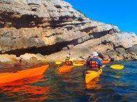 Percorso in doppio kayak lungo la costa di Barcellona 1h