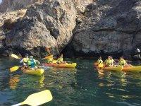 discovering the Almeria coast in a canoe