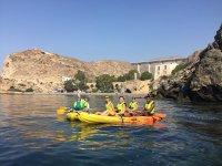 excursion en piragua por los alrededores de Roquetas