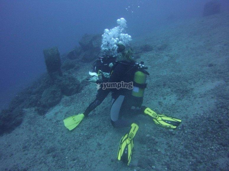 金丝雀残骸的潜水