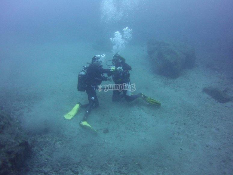 初学者潜水课特内里费岛