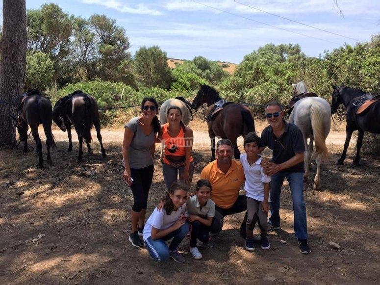 Jornada ecuestre en familia por Menorca